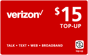 Buy the $15.00 Verizon Wireless® Real Time Refill Minutes | On SALE for Only $14.95