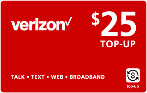 Buy the $25.00 Verizon Wireless® Real Time Refill Minutes | On SALE for Only $24.95