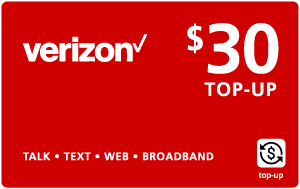 $29.89 Verizon Wireless® Real Time Refill Minutes