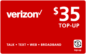 Buy the $35.00 Verizon Wireless® Real Time Refill Minutes | On SALE for Only $34.89
