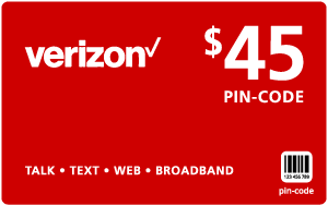 $44.79 Verizon Wireless® Refill Minutes Instant Prepaid Airtime
