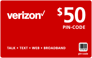 Buy the $50.00 Verizon Wireless® Refill Minutes Instant Prepaid Airtime | On SALE for Only $49.79