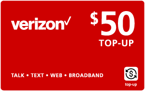 Buy the $50.00 Verizon Wireless® Real Time Refill Minutes | On SALE for Only $49.79