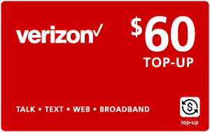 Buy the $60.00 Verizon Wireless® Real Time Refill Minutes | On SALE for Only $59.79