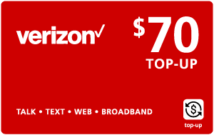 Buy the $70.00 Verizon Wireless® Real Time Refill Minutes | On SALE for Only $69.69