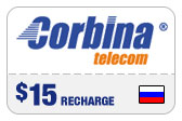 Buy the $15.00 Corbina Telecom Russia Real Time Refill Minutes | On SALE for Only $14.89
