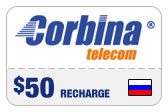 Buy the $50.00 Corbina Telecom Russia Real Time Refill Minutes | On SALE for Only $48.99