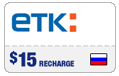 $14.89 ETK Enisey Telecom Real-Time Refill