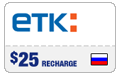 $24.59 ETK Enisey Telecom Real-Time Refill