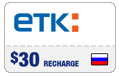 $29.49 ETK Enisey Telecom Real-Time Refill