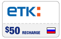 $48.99 ETK Enisey Telecom Real-Time Refill
