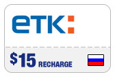 Buy the $15.00 ETK Enisey Telecom Real Time Refill Minutes | On SALE for Only $14.89