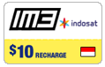 $10.00 IM3 Indosat Indonesia Real-Time Refill