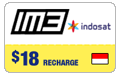 $18.00 IM3 Indosat Indonesia Real-Time Refill