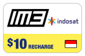 Buy the $10.00 IM3 Indosat Indonesia Real Time Refill Minutes | On SALE for Only $10.00