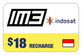 Buy the $18.00 IM3 Indosat Indonesia Real Time Refill Minutes | On SALE for Only $18.00