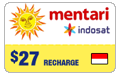 $27.00 Mentari Indosat Indonesia Real-Time Refill
