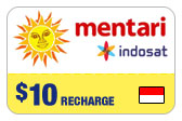 Buy the $10.00 Mentari Indosat Indonesia Real Time Refill Minutes | On SALE for Only $10.00