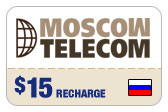 Buy the $15.00 Moscow Telecom Russia Real Time Refill Minutes | On SALE for Only $14.89