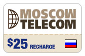 Buy the $25.00 Moscow Telecom Russia Real Time Refill Minutes | On SALE for Only $24.59