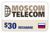 Buy the $30.00 Moscow Telecom Russia Real Time Refill Minutes | On SALE for Only $29.49
