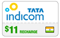 $10.00 Tata Indicom India Real-Time Refill