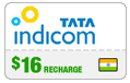 $16.00 Tata Indicom India Real-Time Refill