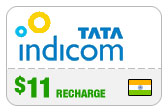 Buy the $10.00 Tata Indicom India Real Time Refill Minutes | On SALE for Only $10.00
