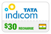 Buy the $30.00 Tata Indicom India Real Time Refill Minutes | On SALE for Only $30.00