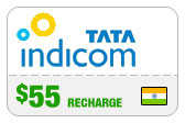 Buy the $55.00 Tata Indicom India Real Time Refill Minutes | On SALE for Only $55.00