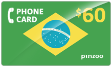 $60.00 Power Brazil Phone Card