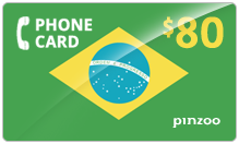 $80.00 Power Brazil Phone Card