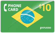 $10.00 Power Brazil Phone Card