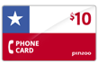 $10.0000 PINZOO Power Chile Phone Cards