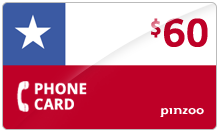 $60.00 Power Chile Phone Card