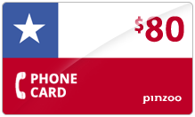 $80.00 Power Chile Phone Card