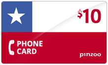 $10.00 Power Chile Phone Card