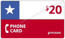 $20.00 Power Chile Phone Card