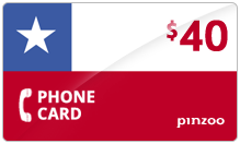 $40.00 Power Chile Phone Card