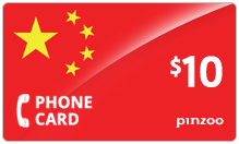 $10.00 Power China Phone Card