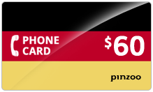 $60.00 Power Germany Phone Card