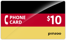 $10.00 Power Germany Phone Card