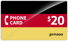 $20.00 Power Germany Phone Card