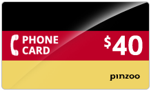 $40.00 Power Germany Phone Card