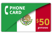 $60.0000 PINZOO Power Mexico Phone Cards