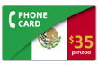 $40.0000 PINZOO Power Mexico Phone Cards