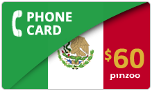 $60.00 Power Mexico Phone Card
