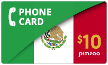 $10.00 Power Mexico Phone Card