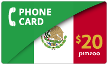 $20.00 Power Mexico Phone Card