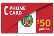 $60.0000 PINZOO Power Peru Phone Cards